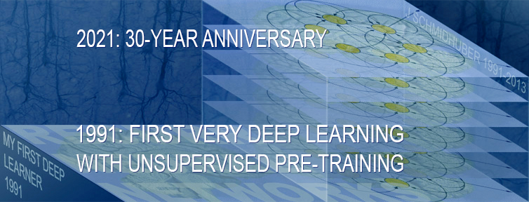1991: First very deep learning with unsupervised pre-training