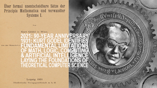 1931: theoretical computer science AI theory founded by Goedel